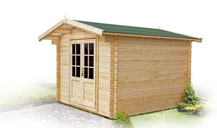 abri de jardin en bois en madriers 6 m2 avec plancher. Black Bedroom Furniture Sets. Home Design Ideas