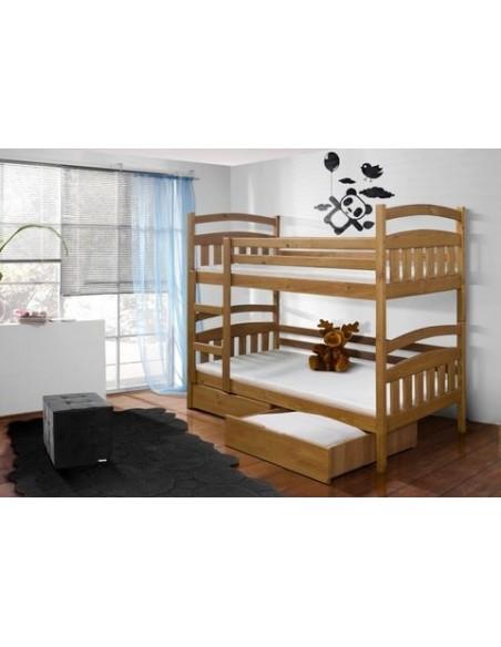 lit enfant superposé séparable 2 couchages 90 x 200 en pin