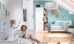 Armoire dressing bébé blanc en bois