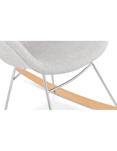 fauteuil bascule gris clair
