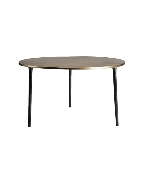 Table basse ronde dorée