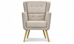 fauteuil lin naturel