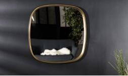 miroir doré arrondi