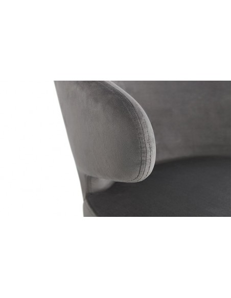 fauteuil oreille tissu gris
