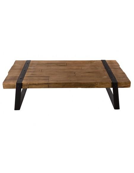 Table basse en teck recyclé et métal