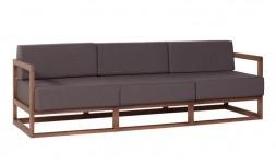 Canapé droit 3 places design en tissu