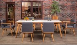 Ensemble repas en bois design