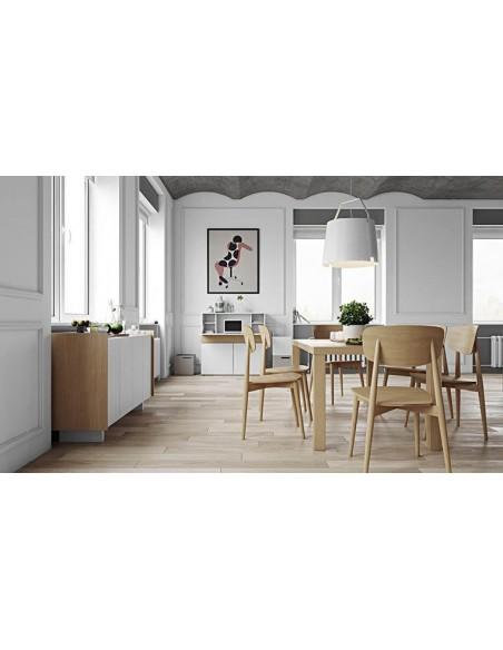Lot de chaise design en bois massif