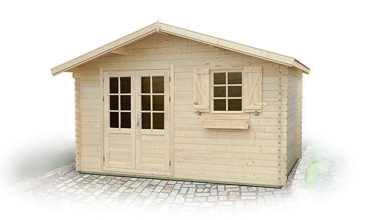 atelier de jardin 10m2 emboit en sapin naturel bois massif. Black Bedroom Furniture Sets. Home Design Ideas