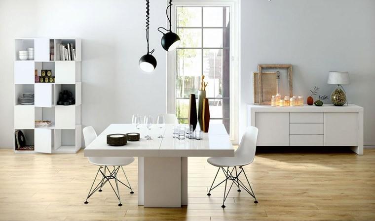 table manger blanche brillante carr e 130 ou 150 cm dusk. Black Bedroom Furniture Sets. Home Design Ideas