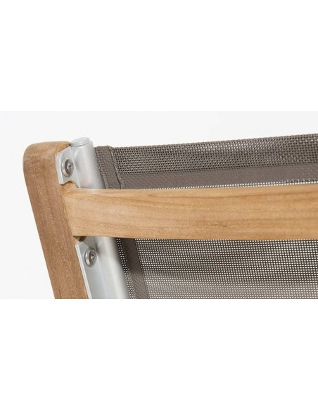 Chaise de jardin en teck et textilène