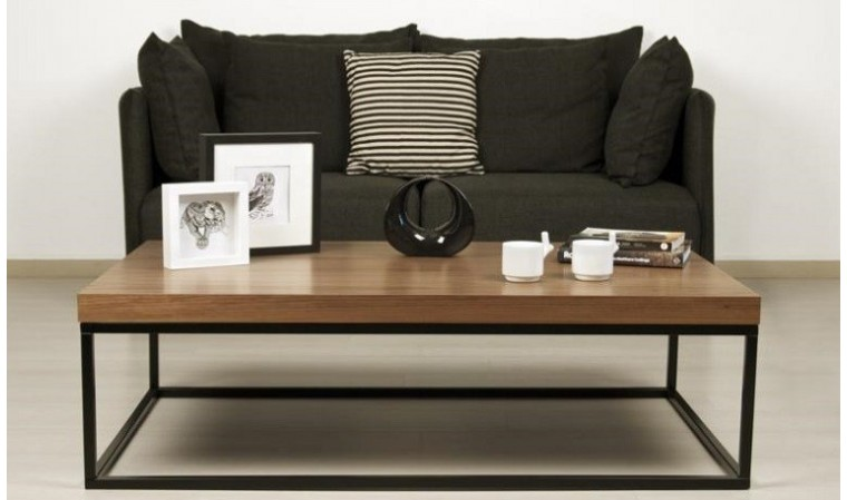table basse prairie de temahome table basse rectangulaire plateau noyer. Black Bedroom Furniture Sets. Home Design Ideas