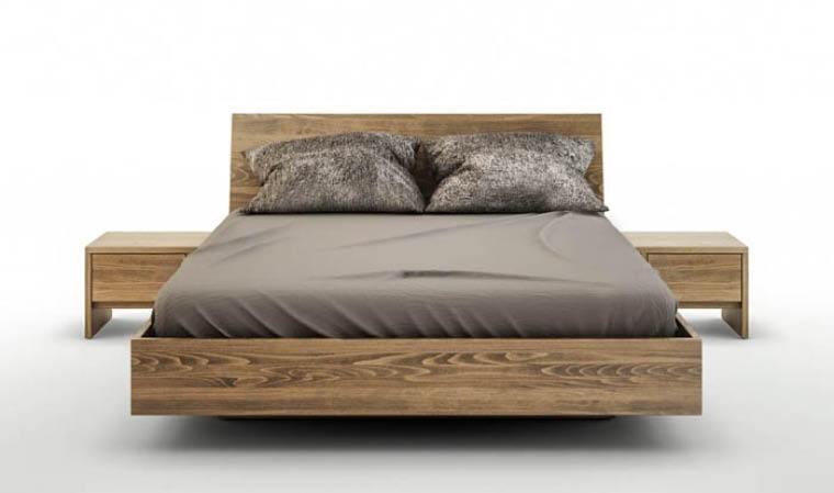 lit avec coffre de rangement adulte en bois massif balduczi. Black Bedroom Furniture Sets. Home Design Ideas