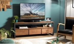 meuble tv en teck recyclé
