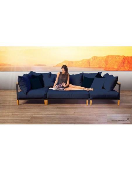 Canapé de jardin aluminium et bois