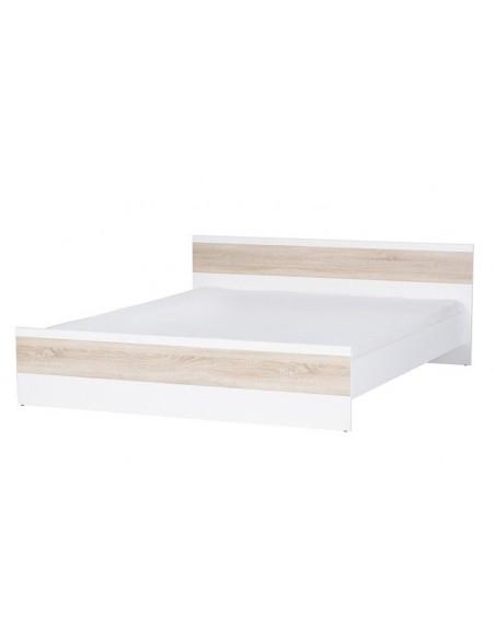 Lit minimaliste blanc