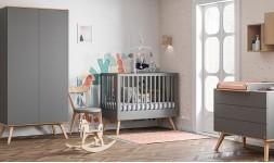 Chambre bébé complète grise