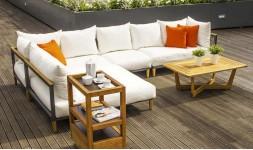 Canapé angle jardin de qualite