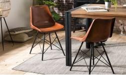 Chaise cuir salle à manger