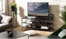 Meuble TV métal noir