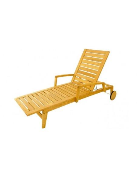 Chaise longue bois massif