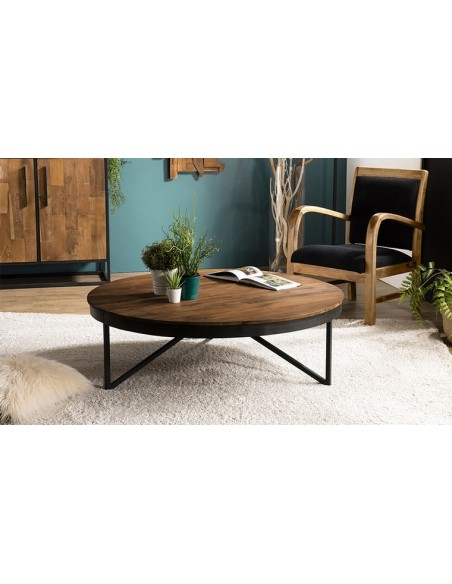 table basse ronde 110 cm