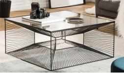 table basse carrée géométrique