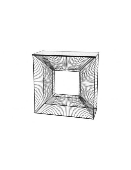 Console géométrique noire