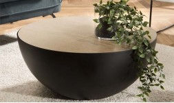 table basse demi sphère