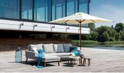 Salon de jardin luxe en résine tressée