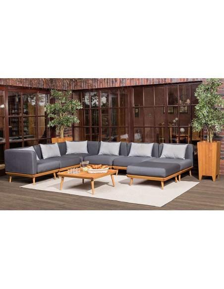 Salon de jardin bas en bois