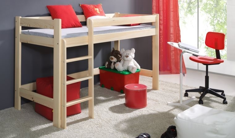lit sur lev enfant nathalie lit mezzanine pas cher pour. Black Bedroom Furniture Sets. Home Design Ideas