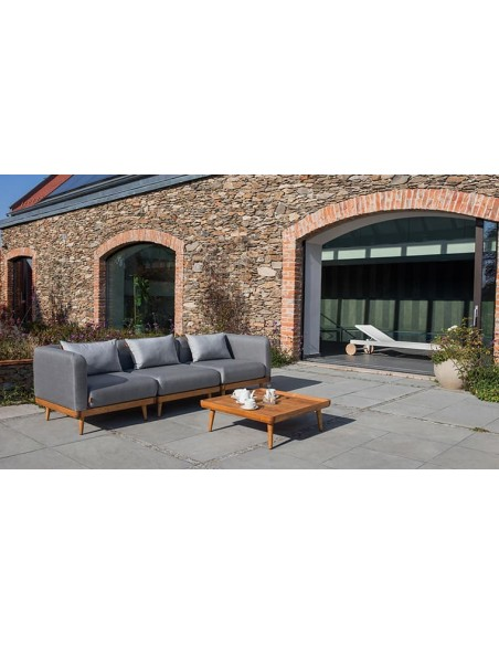 Canapé de jardin droit scandinave