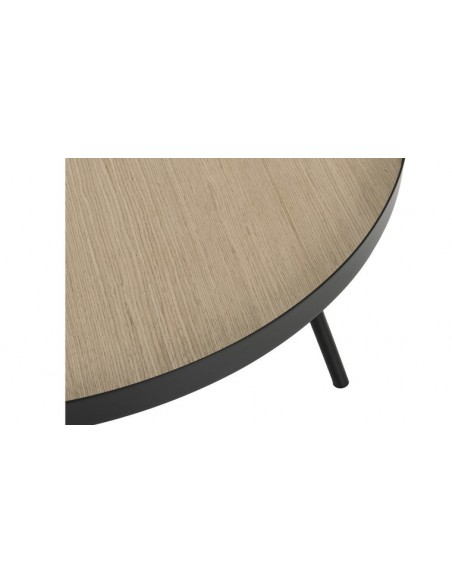 table basse ronde metal noir