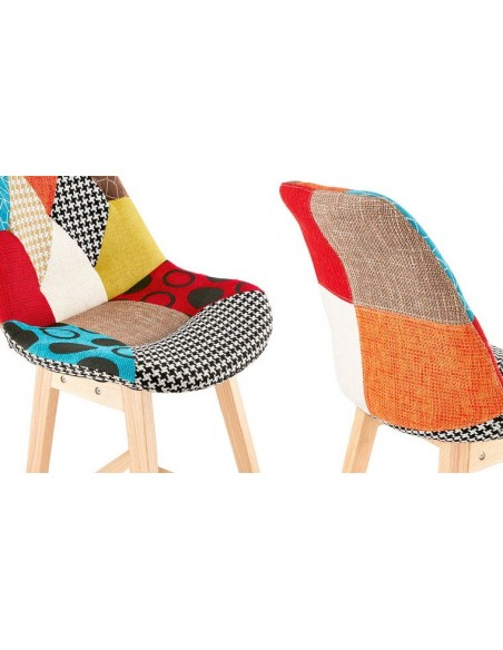 Chaise haute patchwork