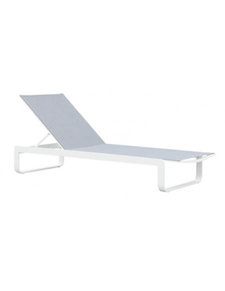 Bains de soleil design blanc avec tablette
