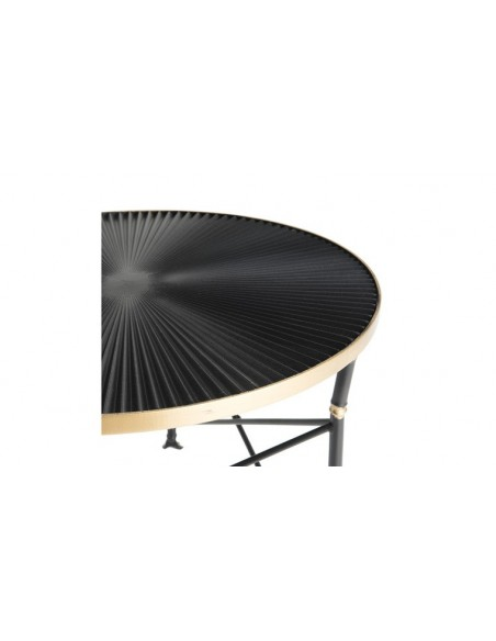 Table d'appoint ronde et dorée