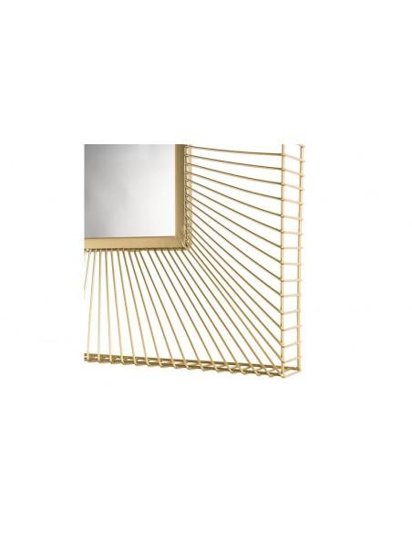 Miroir carré doré