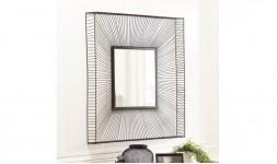 Miroir metal noir carré