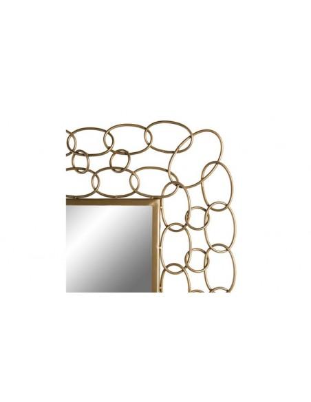 Miroir mural cadre doré
