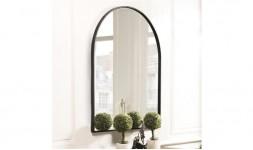 Miroir arc de cercle noir