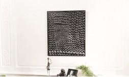 Tableau décoratif métal noir