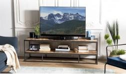 Meuble TV en bois exotique
