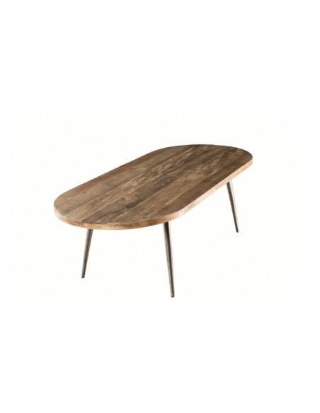 Table basse ovale en teck