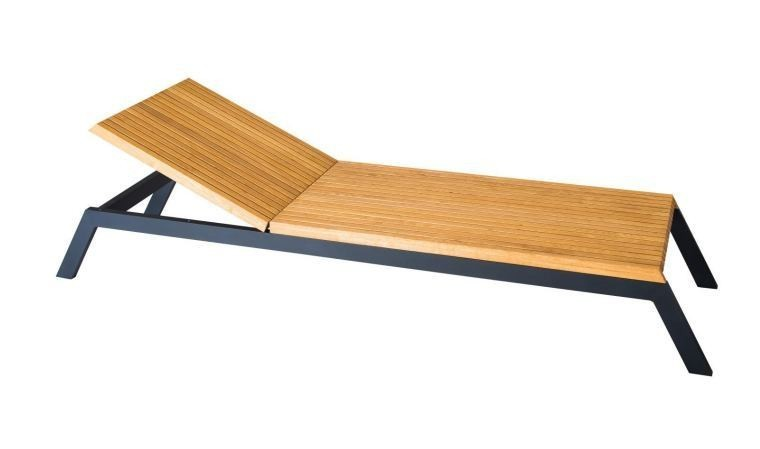 Chaise longue en bois massif