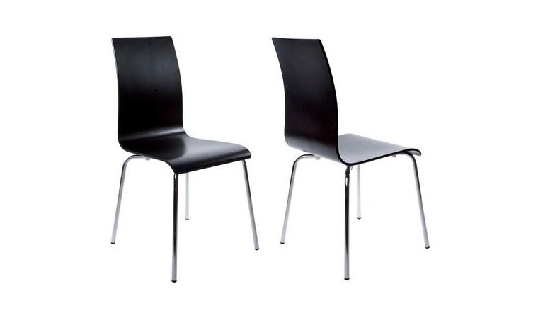 Chaise salle à manger en bois noire