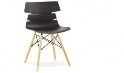 Chaise design scandinave noire