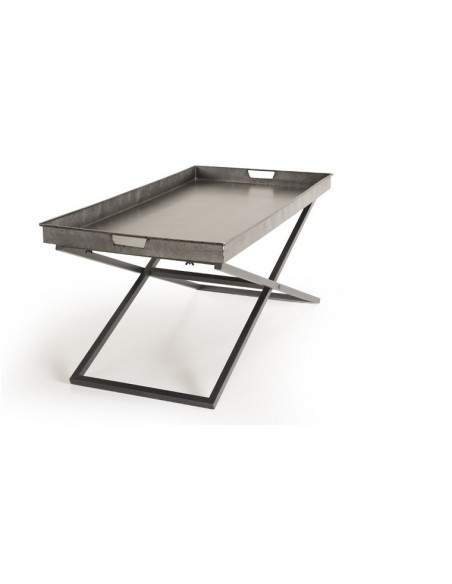 Table basse en zinc
