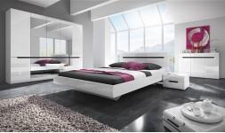 Chambre complète blanc brillant