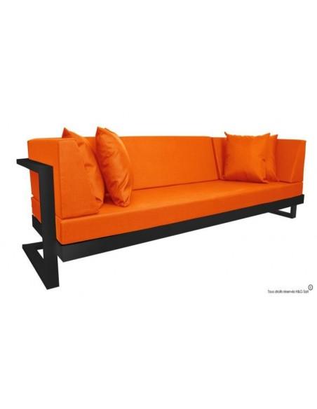 Canapé de jardin noir